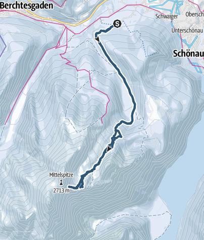 Karte / 5. Watzmannkind und Skischarte