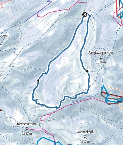 地图 / Vom Ostertal auf den Ochsenkopf
