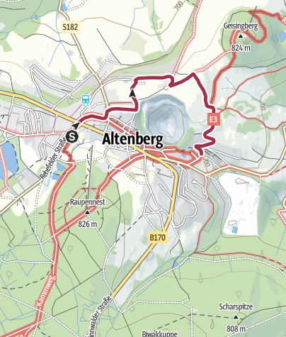 Karte / TK 2 - Terrainkurweg 2 - Bergbaumuseum