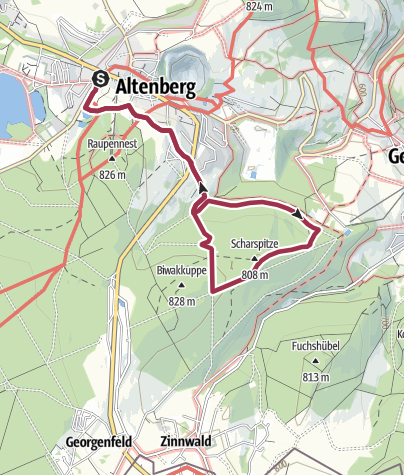 Karte / TK 3 - Terrainkurweg 3 - Scharspitzenring