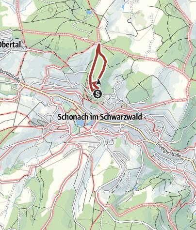Karte / Schonach - Naturerlebnispfad