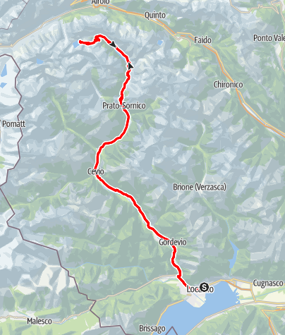 Map / Tour of the Maggia Valley and side valleys