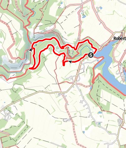 "Karte / Genusstour 8 - ""Wanderweg mit Panorama"" Robertville"