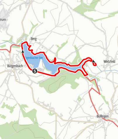 "Karte / Genusstour 7 - ""Still ruht der See"" Bütgenbach"