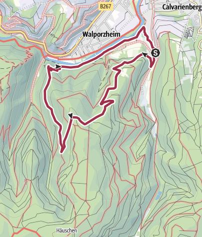 Karte / Wanderung 2004