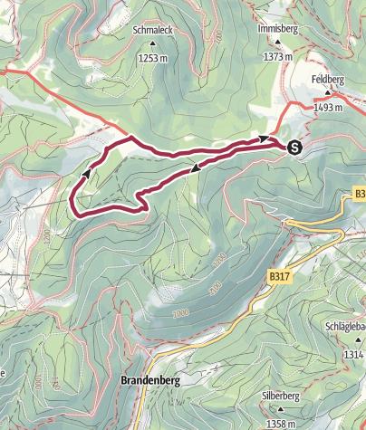 Hartă / Todtnauer Hütte - Schliesheu - Stübenwasen und zurück