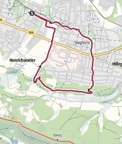 Map / Stieghorst—Teuto—Stieghorst