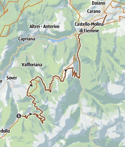 Cartina / 870 - Tappa 2  - Grand Tour Dolomiti Lagorai Bike