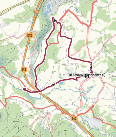 """Karte / Genusstour 6 - """"Im schönsten Wiesengrund"""" Bellevaux"""