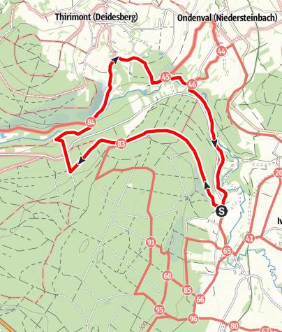 Carte / Balades de rêve 1 -  « La rivière d'or» Montenau