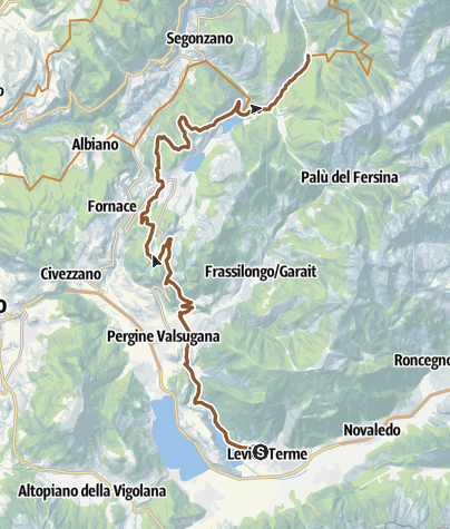 Cartina / 860 - Tappa 1 - Grand Tour Dolomiti Lagorai Bike