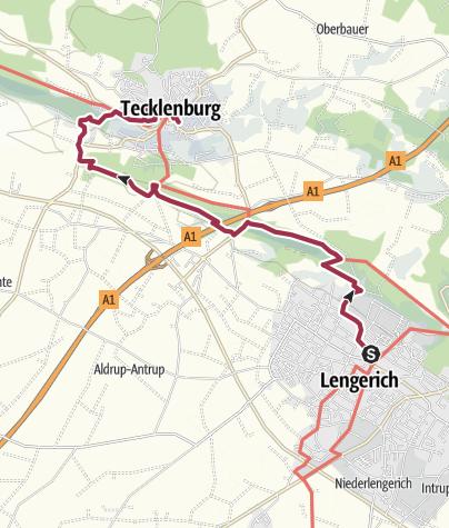 Karte / K 08: Von Lengerich nach Tecklenburg