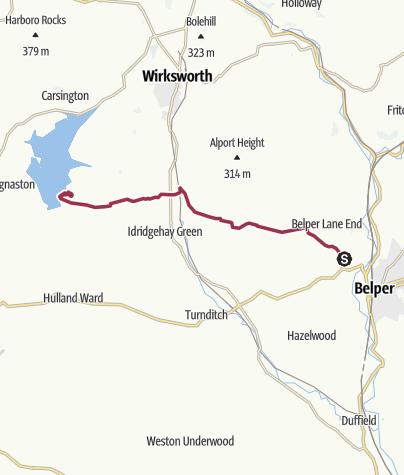 Map / Belper to Carsington