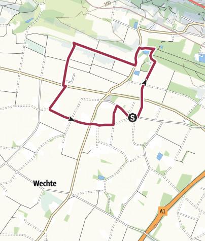 Karte / R 22: Durch Lengerichs Westen