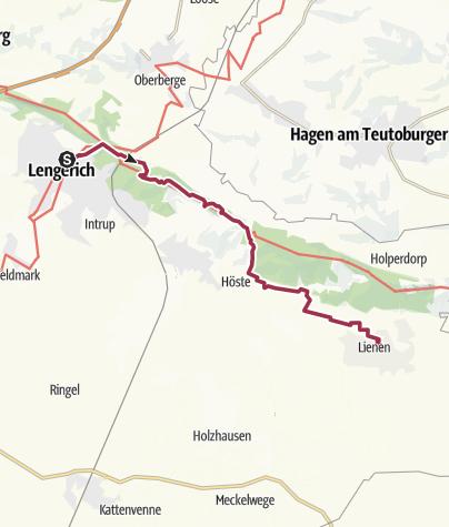 Karte / K 20: Von Lengerich nach Lienen durch den Teutoburger Wald