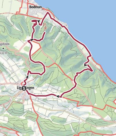 Map / Rundwanderung Liggeringen - Bodman