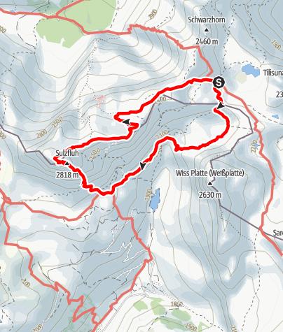 Karte / Klettersteig Sulzfluh (Schweizer Seite)