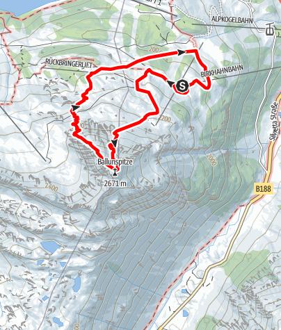 Karte / Klettersteig Silvapark Ballunspitze