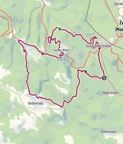 Karte / Arberland Trailcamp: Der Arbersteiger
