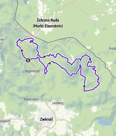 Karte / Arberland Trailcamp: Der Falkensteiger