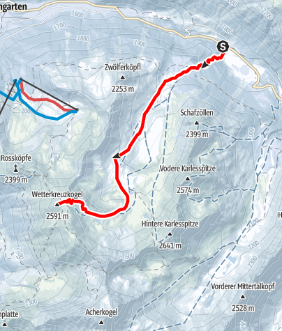 Karte / ORTOVOX Tourentipp: Wetterkreuzkogel