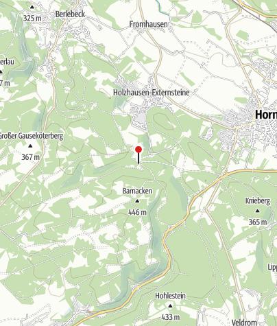 """Karte / Hohlweg """"Große Egge"""""""
