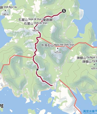 Map / 老虎騎石大山峒石屋山畫眉山雷打石v2