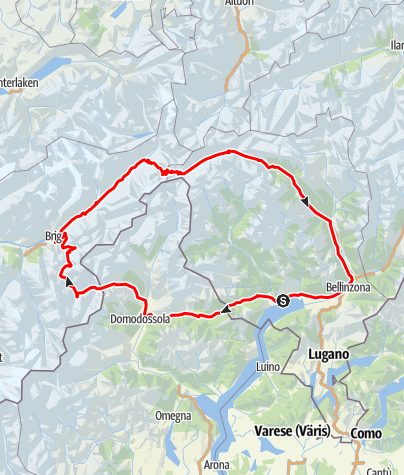 Map / Simplon Pass-Nufenen Pass