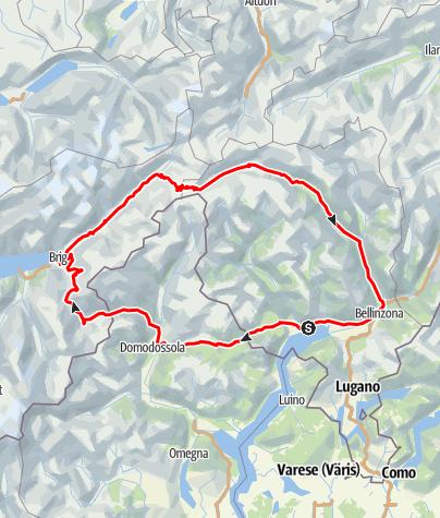 Cartina / Passo del Sempione - Passo della Novena