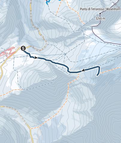 Karte / Breithorn (3438m) von Simplonpass aus