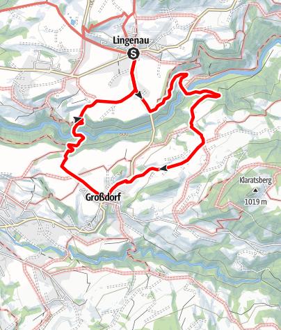 Karte / Lingenau | Durch die Subersachschlucht