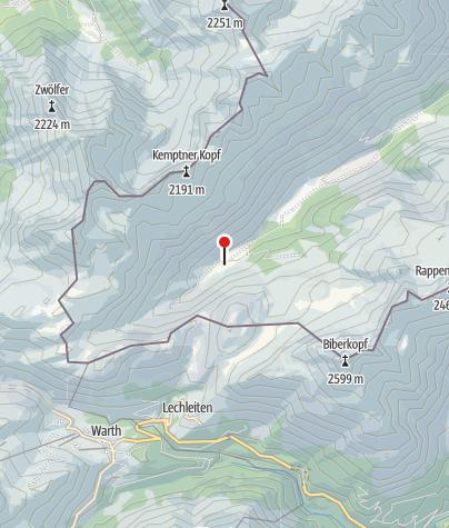 Karte / Untere Biber-Alpe