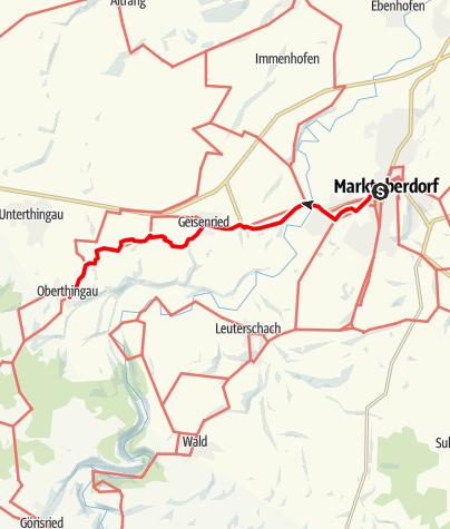 Karte / Münchner Jakobsweg im Allgäu, Marktoberdorf - Oberthingau