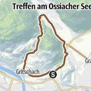 Karte / Tour rund um den Oswaldiberg - Mountainbiken in der Region Villach