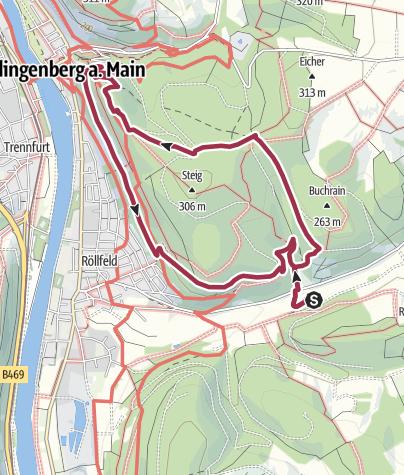 Karte / Rundwanderweg Aussichtsturm, Clingenburg, Sonnenweg