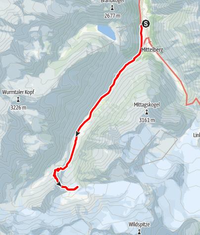 Map / Die Pitztaltour - Tag 1:  Von Mandarfen zum Taschachhaus mit sensationellem Gletscherblick