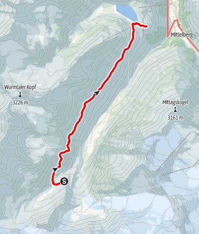 Map / Die Pitztaltour - Tag 2. Ganz entspannt vom Taschachhaus über den Fuldaer Höhenweg zur Rifflseehütte
