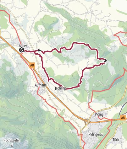 Karte / Stroblalm - Neubichleralm von Anger