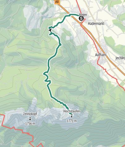 Karte / Hochstaufen über Fürmannalm und Steineralm