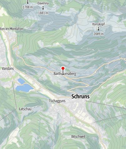 Karte / Altes Frühmesshaus Bartholomäberg