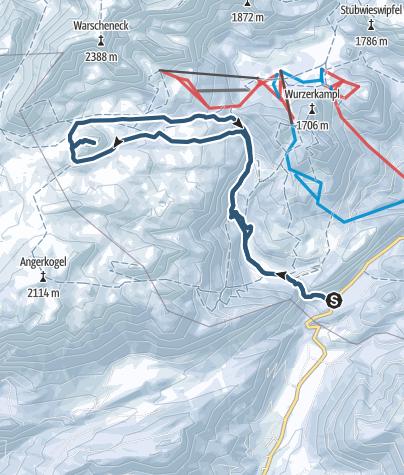 Map / Eisernes Bergl (1955m) Umrahmung von der Hintersteineralm