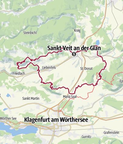 Karte / Vierbergeweg