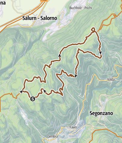 Cartina / 873 - Lago Santo-Passo Potzmauer