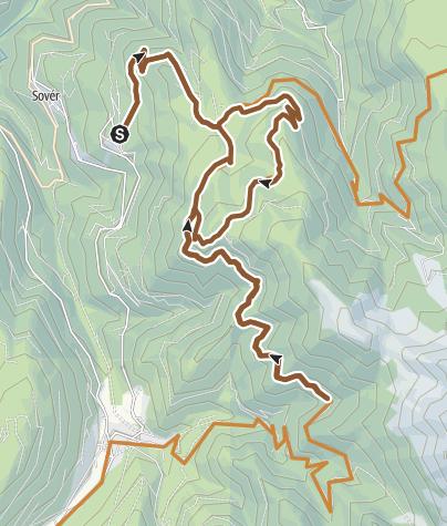 Karte / 866 - Malga Vernera-Rifugio Vasoni