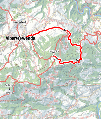 Map / Alberschwende | Brüggelekopf