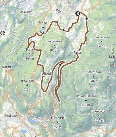 Map / 862 - Montagnaga's Marian pilgrimage site – Laghestel nature reserve