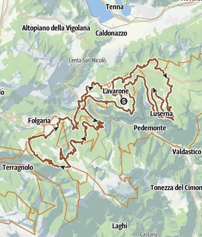 Cartina / 841 - 100 Km dei Forti - Marathon