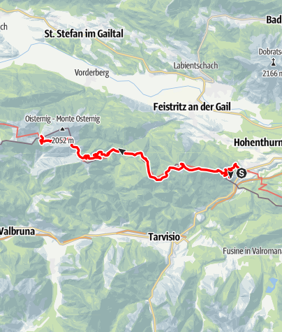 Map / 03 Südalpenweg, E18: Thörl-Maglern - Dolinzaalm