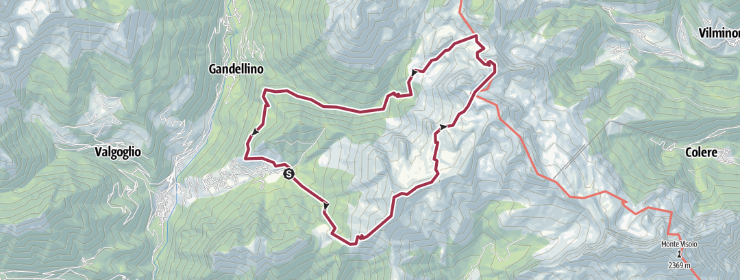 Kartta / Spiazzi di Gromo 4 cime 2 passi 1 lago