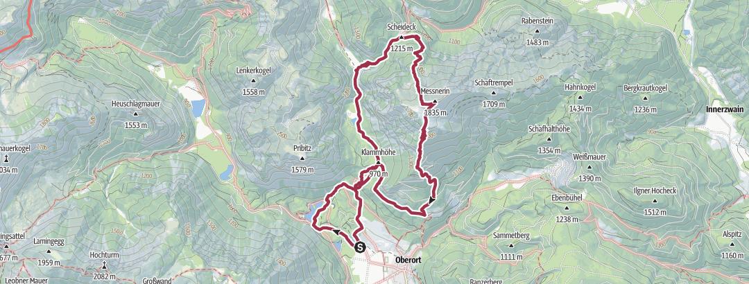 Mapa / Grüner See über Scheideck auf die Mesnerin, zurück über Kamplsteig
